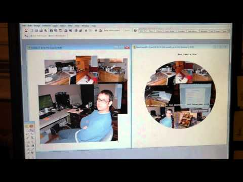 Creating a circle photo collage in Photoshop Elements