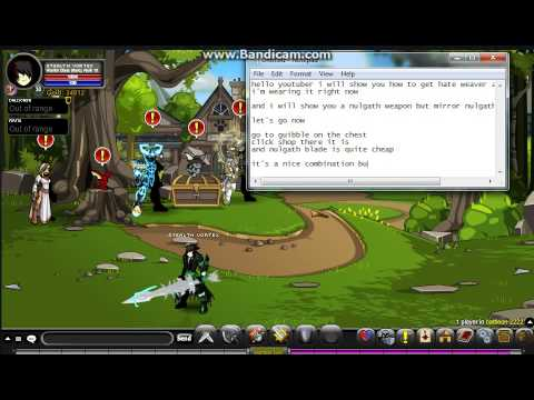 Aqw how to get hate weaver and consciousness blade of nulgath
