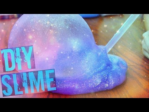 DIY GALAXY SLIME WITHOUT BORAX!