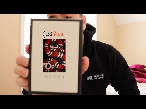 Gucci snake card case unboxing