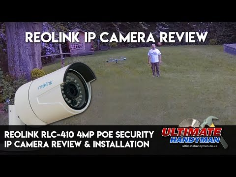 Reolink RLC-410 4MP PoE Security IP Camera review including how to install