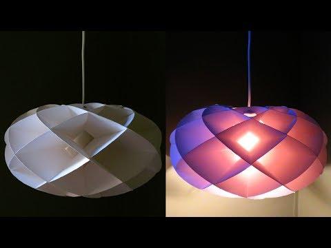 Torus pendant light DIY - how to make a torus lamp/lantern - EzyCraft