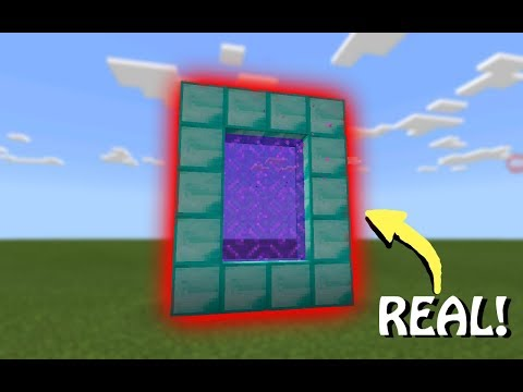 How to make your own custom portals in Minecraft PE! |Minecraft Tutorials #3|