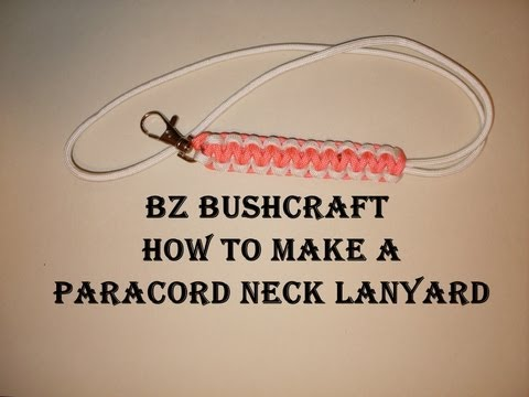 HOW TO MAKE A PARACORD NECK LANYARD