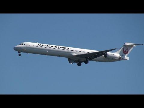 JAL McDonnell Douglas MD-90 JA8070 Landing at HND 34L