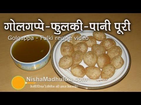 Golgappa Recipe - Pani Puri Recipe - How To Make Pani Puri