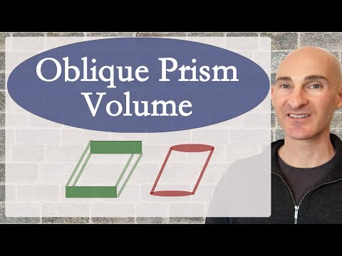 Volume of an Oblique Prism - How to Find (Formula)