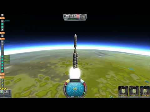 Reaching orbit in Kerbal Space Program with fuel to spare