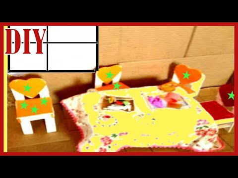 How to make table and chair dining/room set using  jumbo Popsicle sticks