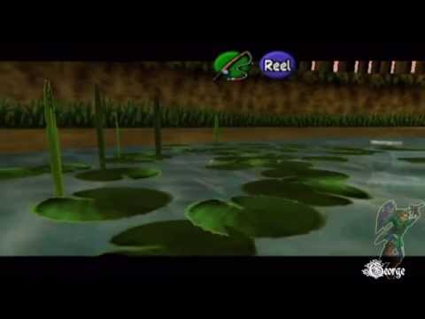Legend of Zelda Ocarina of Time - Catching Hyrule Loach without sinking lure