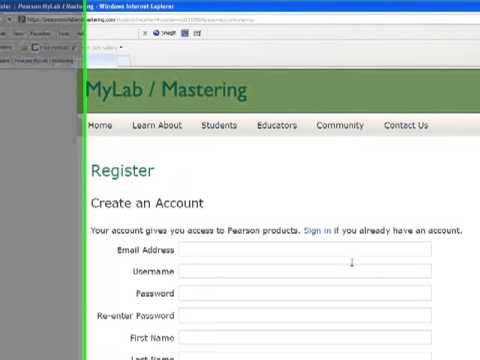 How to register on MyMathLab