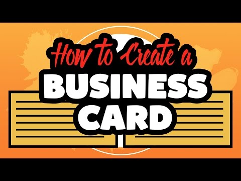 How to create a business card in Adobe Illustrator CC