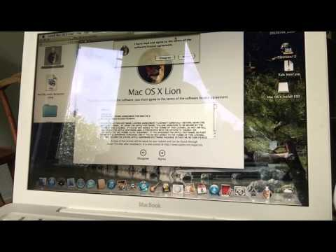 UPGRADE the MACBOOK WHITE 2.1 TO LION without Losing ANY FILE  2015