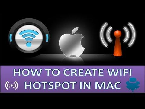 how to create Wifi hotspot on Macbook pro?