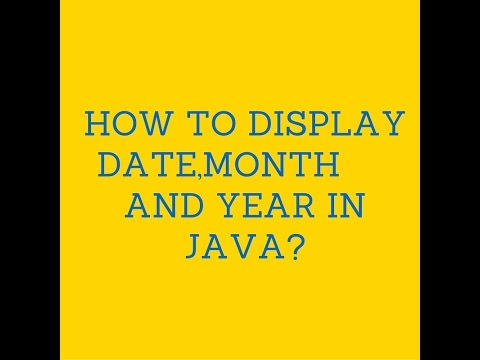 How to display date,month and Year in java?
