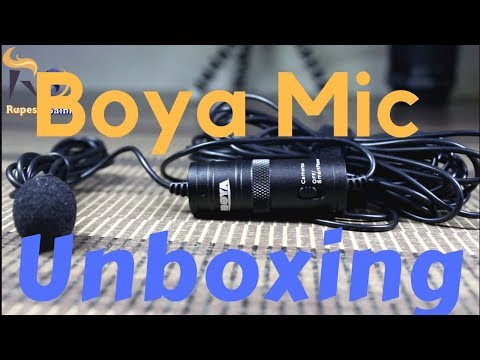 Boya Lavalier BY-M1 Mic Unboxing and Quick Review   Best for Youtubers...