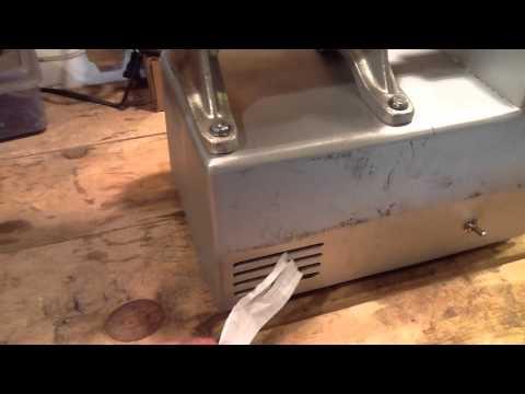 Homemade meat grinder
