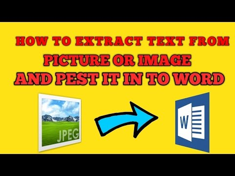 How to Extract TEXT from IMAGE and paste in Ms Word