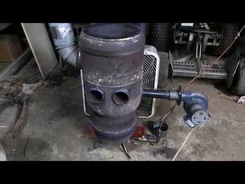 Newest waste oil heater with heat exchanger pipes