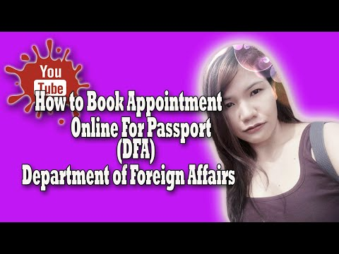 Steps to Book Apointment Online for Passport(DFA)