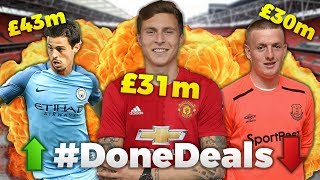Lindelof to Man Utd, Silva to Man City, Pickford for £30m!! | #DoneDeals