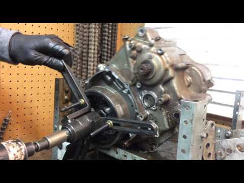 how to take off a DR350 flywheel without a puller