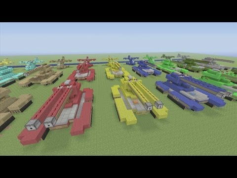 Minecraft Xbox 360 Edition: How To Build: UNSC Scorpion and Grizzly Tank