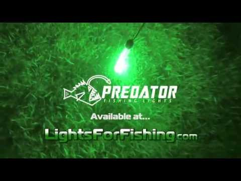 Underwater LED Fishing Lights - 100 Foot Depth Rating in Green and White LEDs
