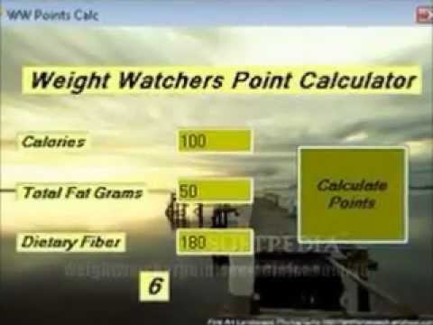 4 tips to Calculator Points Activity with Weight Watchers