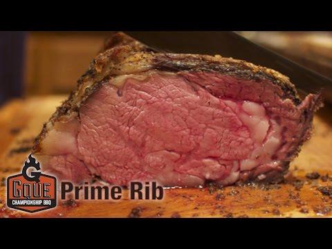 Smoked Prime Rib - Perfect Medium Rare - Whiskey Peppercorn Sauce