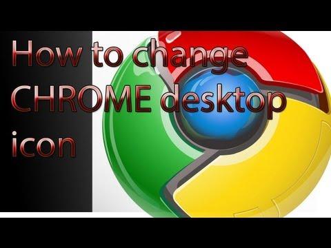How to change google chrome icon