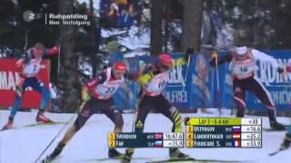 12.01.2014 Biathlon Ruhpolding Verfolgung Männer Winner Emil Hegle Svendsen
