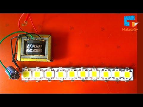 HOW TO MAKE LED light USING 12 VOLT 1AMP POWER SUPPLY