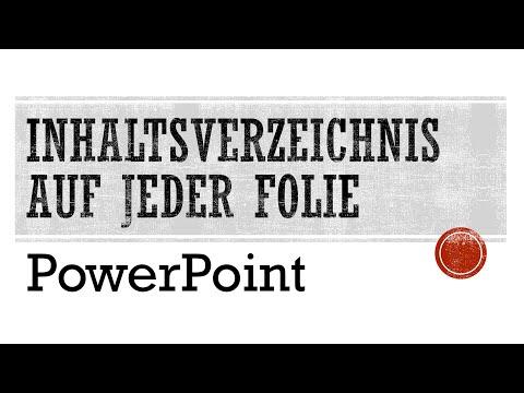PowerPoint: Inhaltsverzeichnis auf jeder Folie - Tutorial [Agenda, Gliederung, Folienmaster]