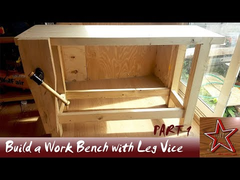 Building A Woodworking Bench with a Leg Vice Part 1