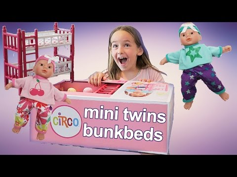 Kids Toy Review | Twin Baby Dolls with Bunk Beds | Mini Twins Deluxe Room Set