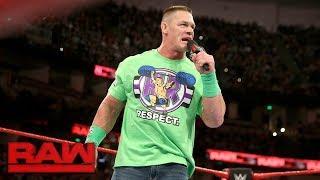 John Cena addresses dream match against The Undertaker at WrestleMania: Raw, Feb. 26, 2018