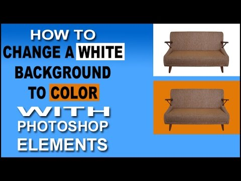 Change a White Background to Color with Photoshop Elements