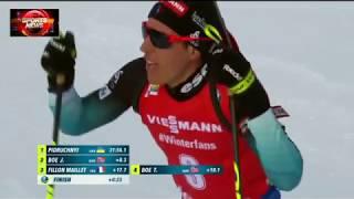 Dmytro Pidruchnyi new World Champion Pursuit 12,5km Östersund 2019 J.BOE-2 F.Maillet-3 all shootyng