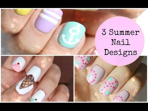 3 Summer Nail Designs   Viki NailBeauty