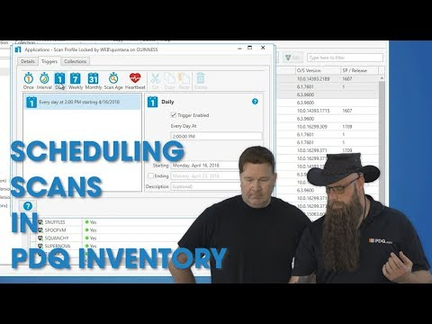 Scheduling Scans in PDQ Inventory