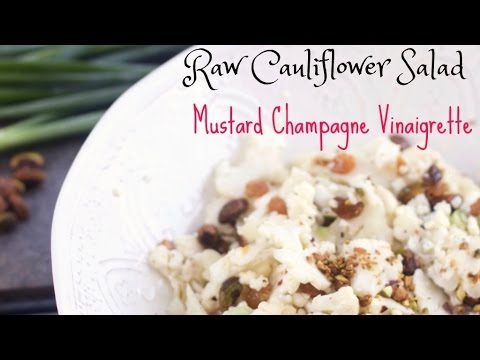 Raw Shaved Cauliflower Salad with Mustard Champagne Vinaigrette