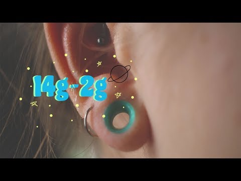 14g - 2g ear stretching journey