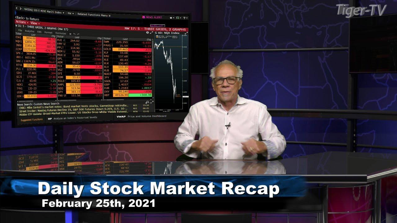 February 25th, Daily Stock Market Recap with Tom O'Brien - 2021