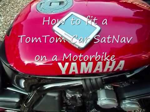 How To Fit a TomTom Car Sat-Nav on a Motorbike - Fabulous Motorcycle Tours