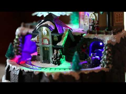 Lighted Train Village Christmas Music Box SKU#87960-Plow& Hearth