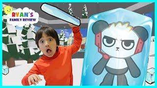 Ryan Plays Ice Breaker on Roblox with Combo Panda!