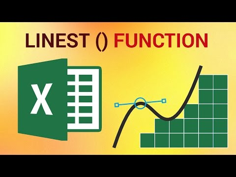 How to Use the LINEST Function in Excel 2016