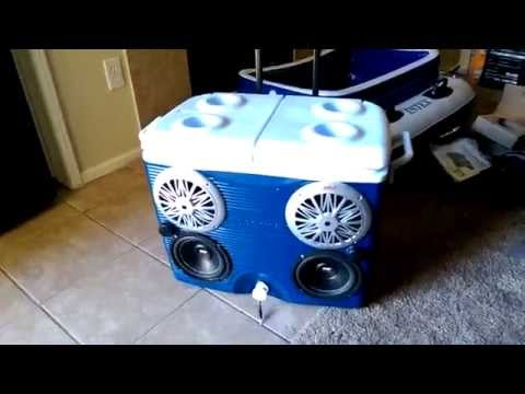 Best Stereo cooler ice chest radio cooler Pyle 4 channel amp How to