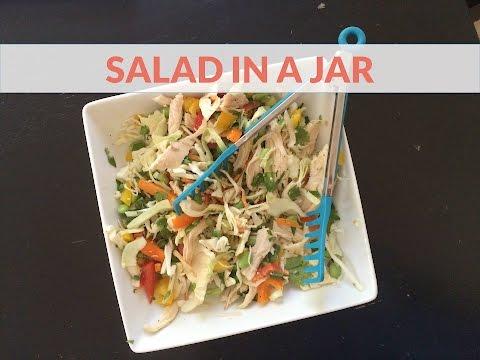 Salad in a Jar - Quick & Healthy Summer Salad Idea
